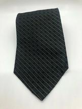 Van Heusen Black Silver Striped Tie - $10.99