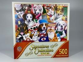 Master Piece Essential Workers 500 Piece Jigsaw Puzzle Cat, Dog, Nurse, ... - $26.24