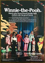 1976 Sears Winnie-the-Pooh Children's Kids Clothing PRINT AD Pooh-Rated ... - $10.89