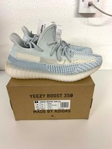 Adidas Yeezy 350 Boost Cloud FW3043 7.5 UK 8 US triple white zebra bred 700 - $403.29