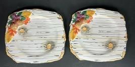 "Set of 2 Dept DEPARTMENT 56 Woodland White Birch Bark 8.5"" Plate Autumn ... - £11.03 GBP"