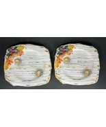 "Set of 2 Dept DEPARTMENT 56 Woodland White Birch Bark 8.5"" Plate Autumn ... - $15.18"