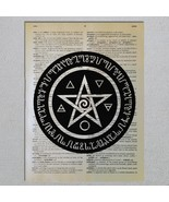 Choose Wicca Symbol Pentagram Spell Dictionary Art Print - $11.00