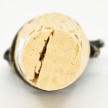 South African Cast Metal w Antique Brass Finish Lion Wine Bottle Cork Stopper image 5