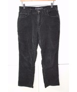 W11616 Womens CALVIN KLEIN JEANS black stretch BOOT CUT CORDUROY JEANS, ... - $28.93