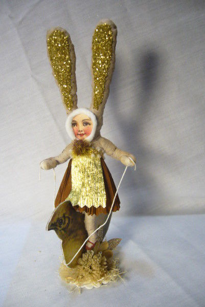 Vintage Inspired Spun Cotton Easter Chick Rider no. 184