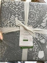 Pottery Barn Carins Duvet Cover Set Gray King 3 Euro Shams Medallion 4pc - $199.00