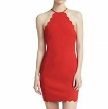 Likely Everly Scalloped Halter Dress - red size 12 - new with tags -- store image 2