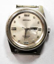 Vintage Seiko 2119 0090 Day Date 21 Jewels Waterproof Wristwatch 30mm - $19.79