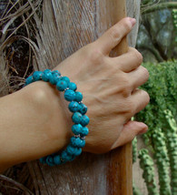 Navajo Turquoise Faceted Bead Bracelet - $48.60