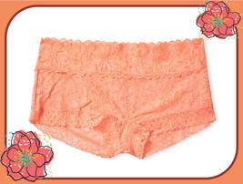 M   XL Apricot Orange FLORAL LACE THE LACIE Victorias Secret SHORTIE RAR... - $12.50