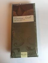 Fabric Tablecloth Elrene Damask Venetian Scroll Green 60 x 144 Oblong New - €43,52 EUR