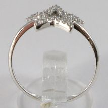 White Gold Ring 750 18K, Star With Zircon, Made IN Italy image 3