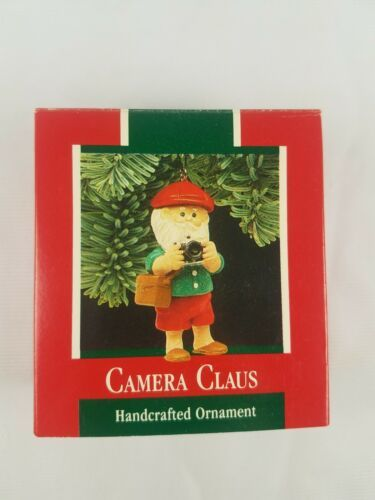 1989 Hallmark Keepsake Ornament Camera Claus Santa Claus Taking Pictures image 4