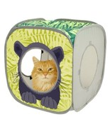 Pop-up Cat Cube, Play Kennel, Cat Bed, kitty Jungle Combo, Collapsible - $9.88