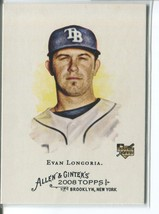 EVAN LONGORIA RC 2008 Topps Allen and Ginter #177 ROOKIE Rays - $4.49