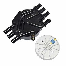 A-Team Performance Distributor Cap and Rotor Compatible with GM Vortec 262 Black image 1