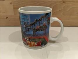 Starbucks Night Before Christmas Scene Coffee Mug Cup Tree Stockings on Handle - $12.30