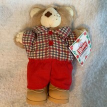 "1986 Boone Cabbage Patch Doll Xavier Roberts Furskins Wendy's Holiday 7"" Bear - $13.99"