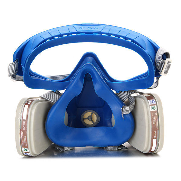 1c44efac73c Silicone Full Face Respirator Gas Mask   Goggles Paint Chemical Dust proof  Fire