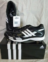 Adidas G05185 Spinner 9 Low Baseball SHOES/CLEATS BLACK/WHITE - $24.99