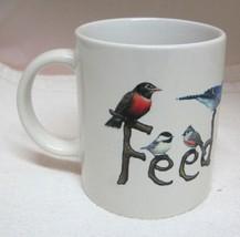 "Feed The Birds 1999 Tom Griffin Earth Sun Moon Coffee Mug Cup 3 5/8"" - $29.69"