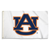 Auburn Tigers White 3'x5' Flag with Grommets  - $35.95