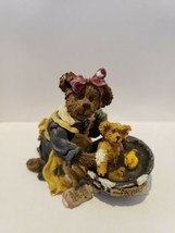 Boyds Bears Resin Figurine #227747 Momma with Baby Taylor Rub-A-Dub-Dub - $12.86