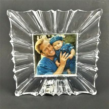 """Mikasa Monarch Square Crystal Photo Frame Holds Photo 3.875"""" x 3.875"""" - $45.03"""