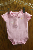 Child of Mine by Carter's Girl Pink One-Piece w/ Embroidery - 0-3 Months - $7.99