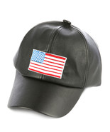 Embroidered American Flag Baseball Hat Faux Lea... - $17.80