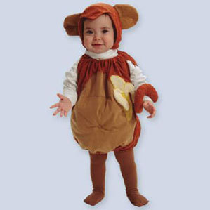 Primary image for Little Monkey Infant Baby Halloween Costume Size 0-25 Pounds