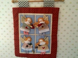 Set of 2  One Santa and One Angel Wall Holiday Wall, Window, or Door Dow... - $7.98