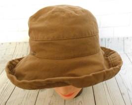 Scala Brown Medium Cotton Bucket Wide Brim  Inner Drawstring  Hat - $18.51