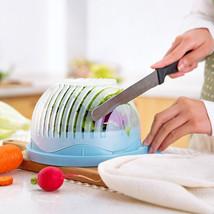 60 Second Fresh Salad Maker Cutter Bowl Slicer Vegetable Easy Washer Cho... - $8.90