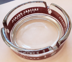 """Caesars Palace 3-1/2"""" x 1"""" tall  Clear round red letters glass ashtray - $9.95"""