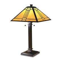Non Metal Dale Tiffany Noir Mission Table Lamp (Length=16) (Width=16) [G... - €273,51 EUR