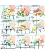 [DIY] Resin Sweet Macaron Ice-cream Popcorn Charm/Pendant for Kid Craft/... - $171,35 MXN