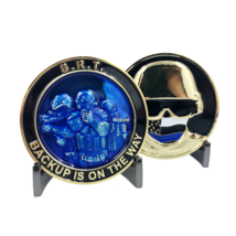 "2"" SRT THIN BLUE LINE POLICE BACKUP IS ON THE WAY CHALLENGE COIN - $23.74"