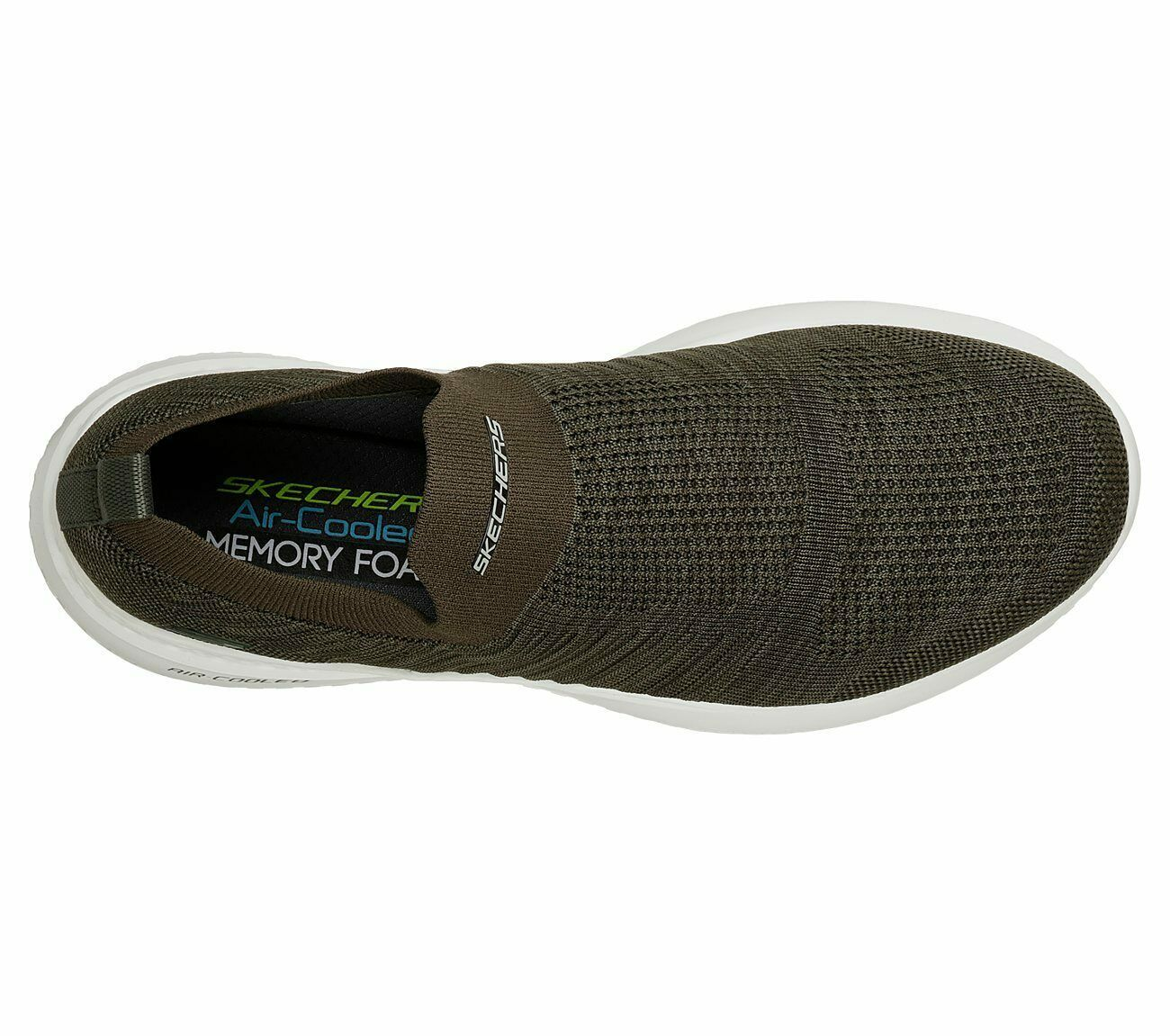 Skechers Olive shoes Men's Memory Foam Comfort Slip On Casual Mesh Comfort 51909 image 5
