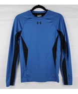 Under Armour Men coldgear fitted t shirt long sleeve blue black size S (... - $16.83