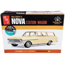 Skill 2 Model Kit 1963 Chevrolet II Nova Station Wagon Craftsman Plus Se... - $43.56