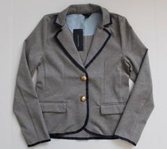 NWT Tommy Hilfiger Girls Ponte Blazer Jacket Gray Navy Trim Size S 7 NWT - $34.99