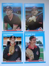 1987 Fleer Update Cleveland Indians Team Set Of 4 Baseball Cards - $3.00