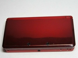 Nintendo 3DS Console System Flare Red End of Production From Japan Used - $99.97