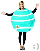 Rasta Imposta Woman's Blue Striped Candy Crush Halloween Costume One Size - $23.22