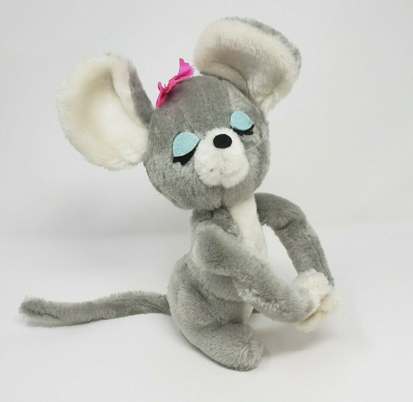 Primary image for VINTAGE 1976 DAKIN HUGGING MICE MOUSE REPLACEMENT GIRL STUFFED ANIMAL PLUSH TOY