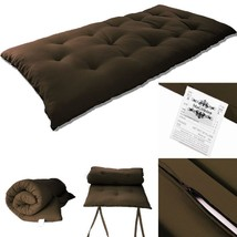 "Full Size Japanese Tatami Rolling Bed Thai Massage Floor Mat 3""Tx54""Wx80... - $103.05"