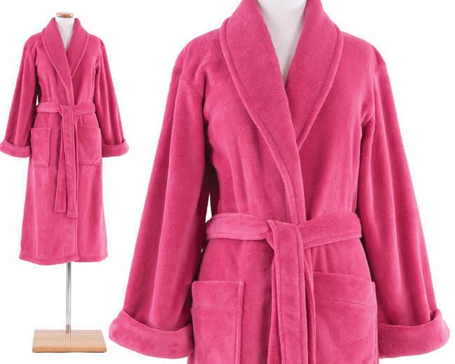 Pine Cone Hill Fuchsia Pink Sheepy Fleece Robe Petite Or One Size Sleepwear Robes