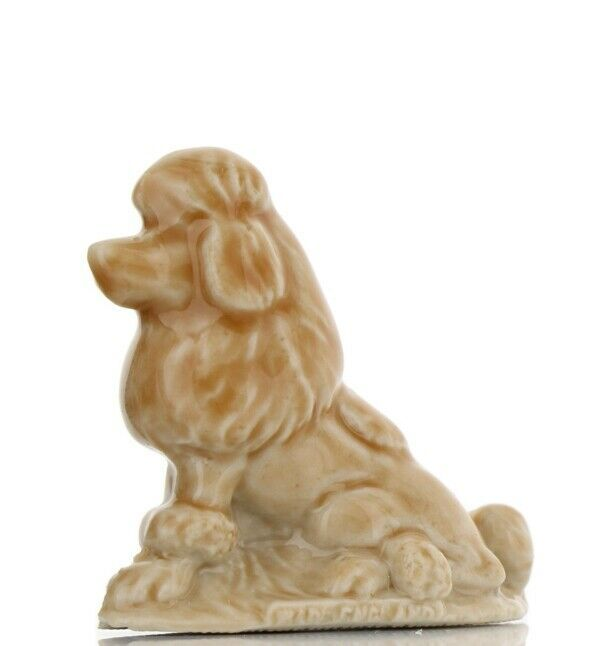 Whimsies Porcelain Figurine Miniatures by Wade Tom Smith Apricot Poodle